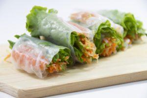 彩り野菜の生春巻き