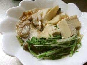水菜と豆腐の煮物