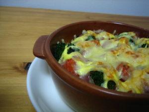 温野菜のチーズ焼き