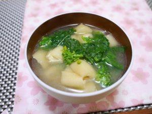 菜の花のお味噌汁