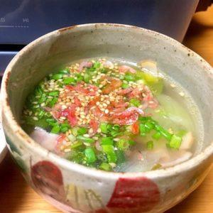 青梗菜の中華スープ