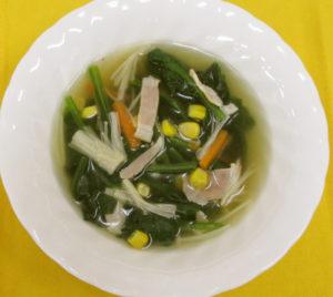 えのきとほうれん草のスープ