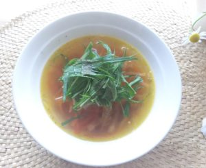 にんじんのコンソメスープ