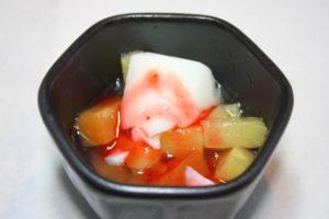 フルーツ杏仁豆腐