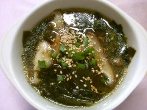 ワカメと椎茸の中華スープ
