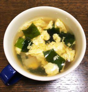 卵とわかめのスープ