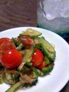 夏野菜の韓国風サラダ