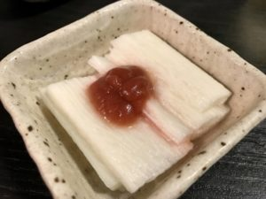 山芋の梅和え