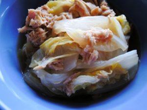白菜とツナのポン酢和え